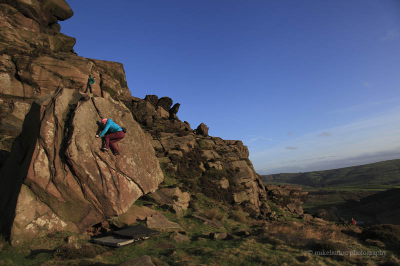 Claire Aspinall on Boulders at the Roaches