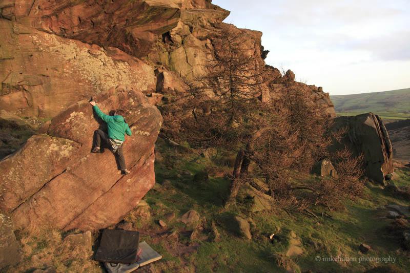 David Boulders as the Sun Starts Setting