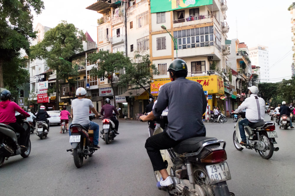 Scooters in Hanoi