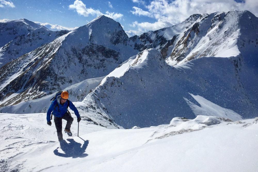 David Love Traversing the Translyvanian Alps