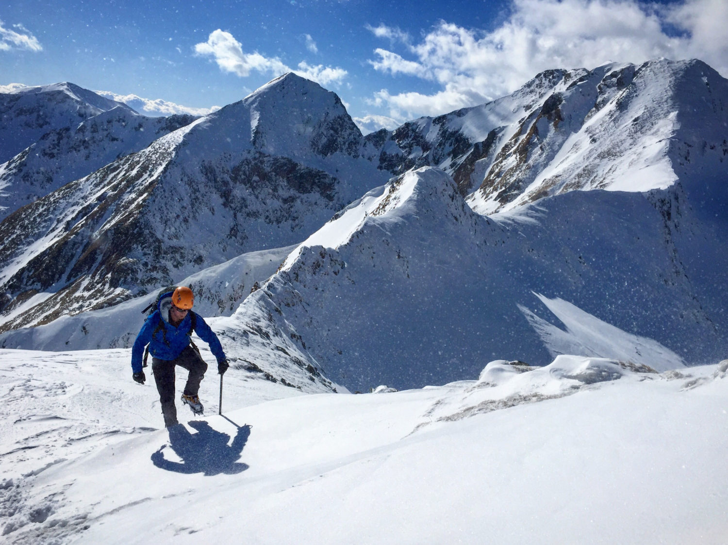 David Love Traversing the Translyvanian Alps
