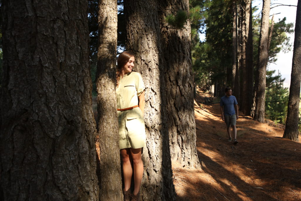 woman in woods wearing NosiLife Insect Repellent Clothing